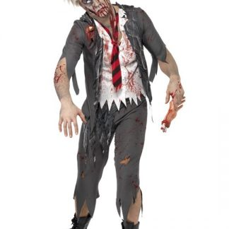 Zombie Skolpojke Maskeraddräkt Medium
